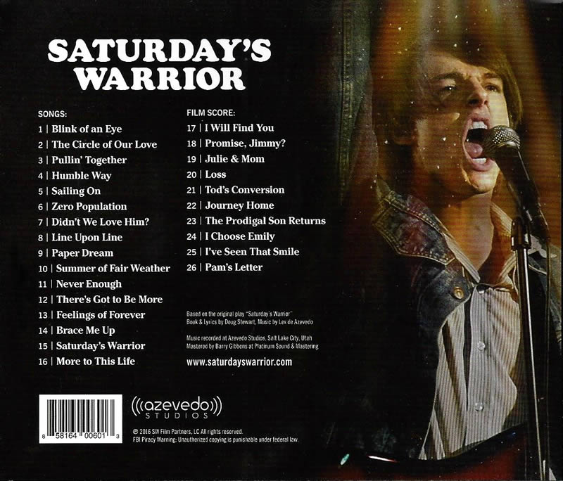 Saturday's Warrior Soundtrack CD - TLH-858164006013