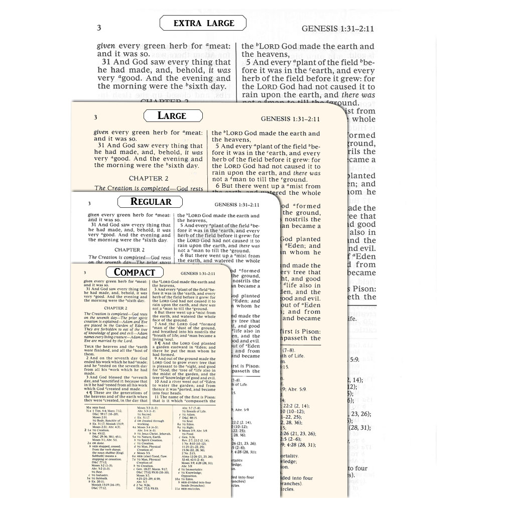Economy Bible - Softcover- Extra Large - LDS-ECOBIB-XL
