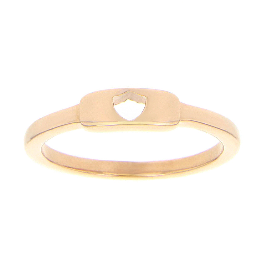 Shield Cutout Ring - Rose Gold - LDP-RNGBR55155