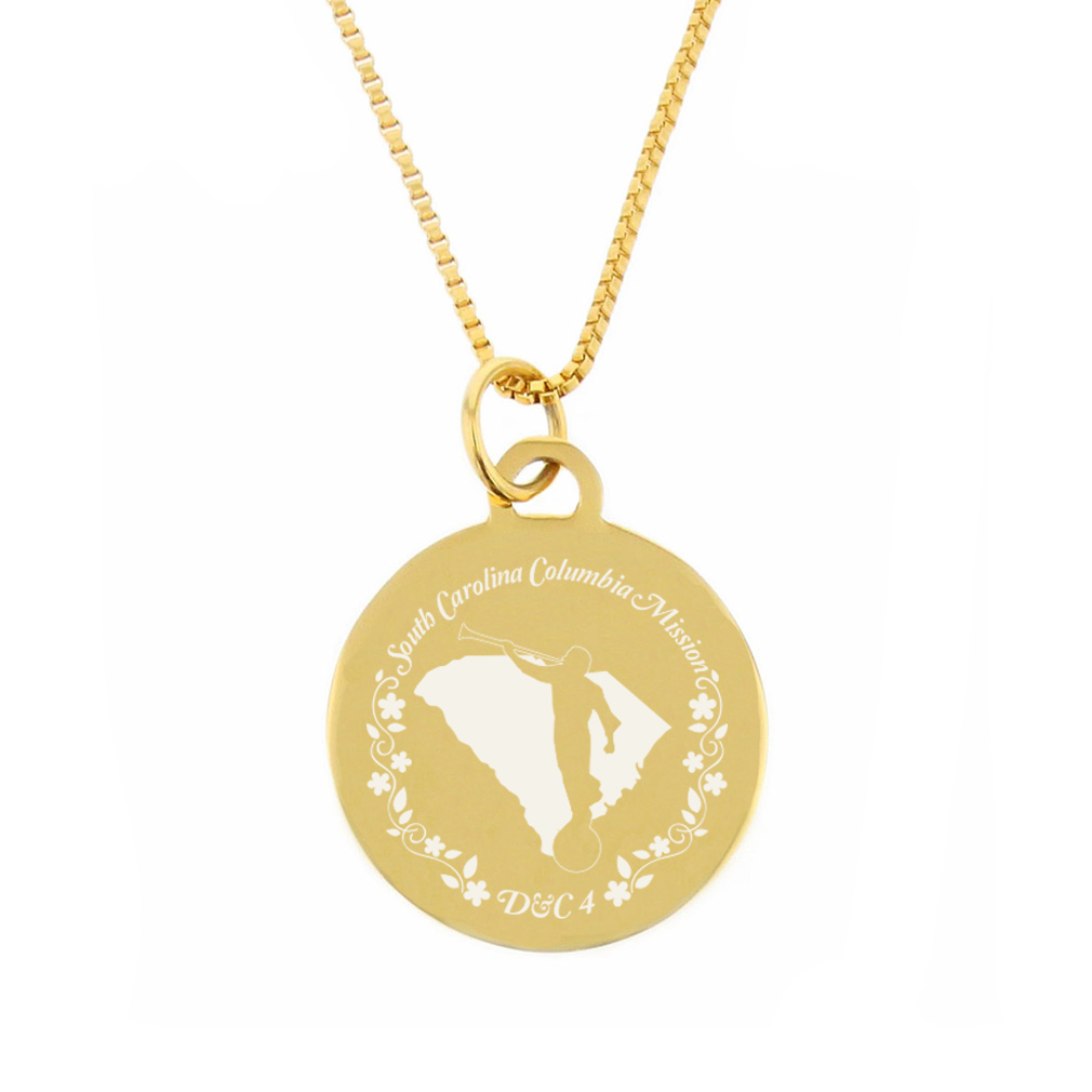 South Carolina Mission Necklace - Silver/Gold - LDP-CPN79