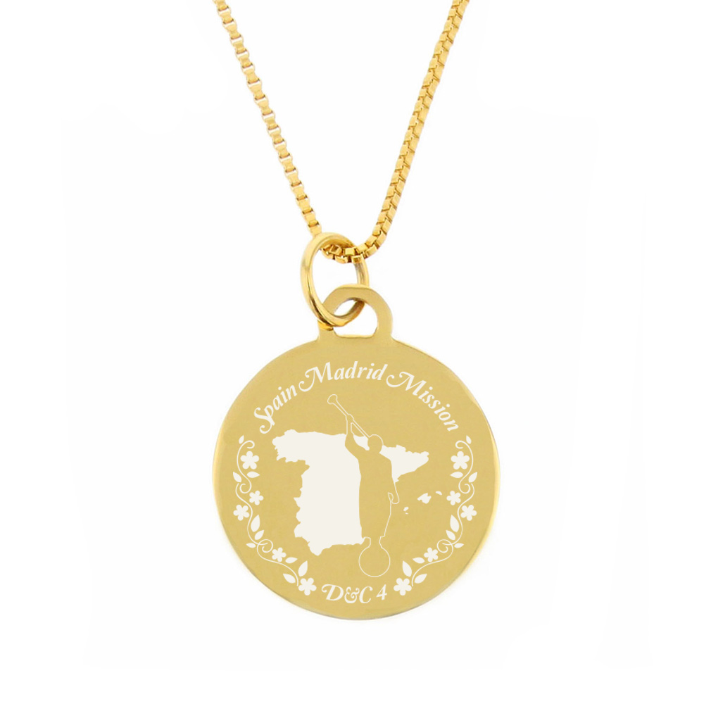 Spain Mission Necklace - Silver/Gold - LDP-CPN28