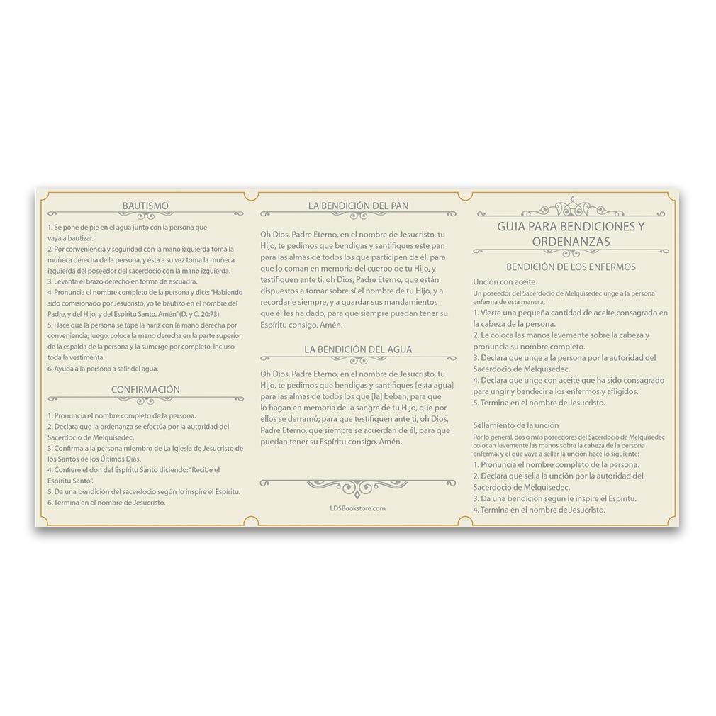 Spanish Priesthood Ordinance Card