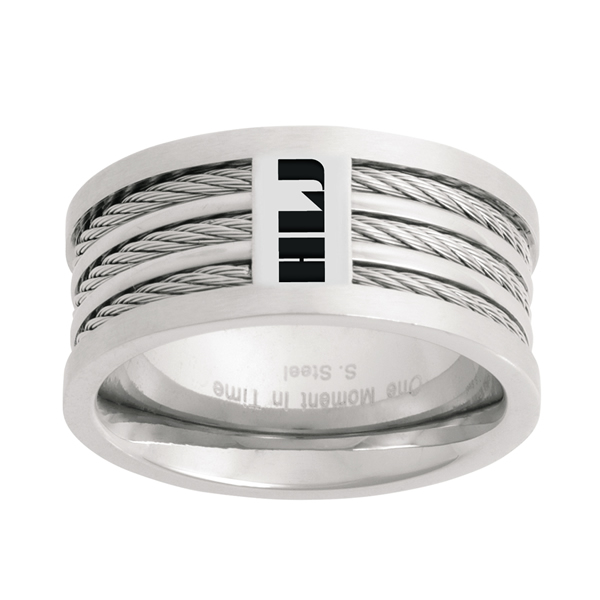 Spanish triple cable ctr ring in language rings for Triple j fine jewelry