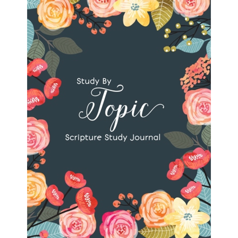 Study by Topic Journal - Floral Version lds study by topic, lds scripture study guide, lds topical study guide