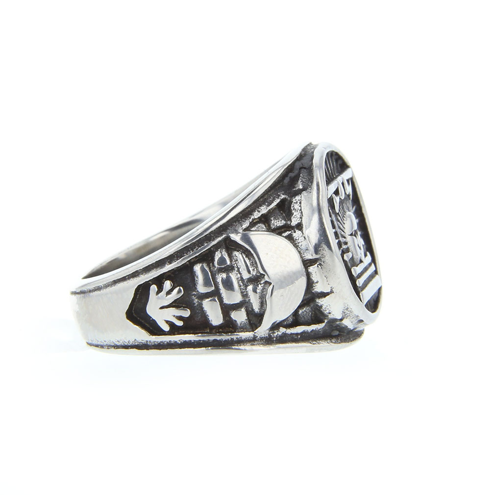 Sunstone Ring Stainless Steel - OMT-J34SS-Steel