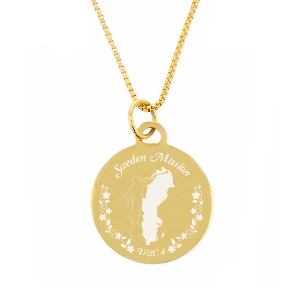 Sweden Mission Necklace - Silver/Gold - LDP-CPN101
