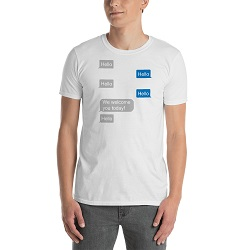 Hello, Hello Texting T-Shirt - Unisex