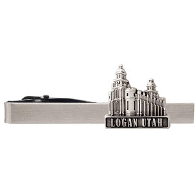 Logan Utah Temple Tie Bar Silver In Temple Pins Bars Rm Tcl233