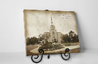 Boston Temple - Vintage Tabletop