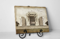 Cardston Temple - Vintage Tabletop