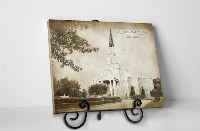 Houston Temple - Vintage Tabletop