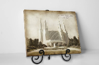 Washington D.C. Temple - Vintage Tabletop