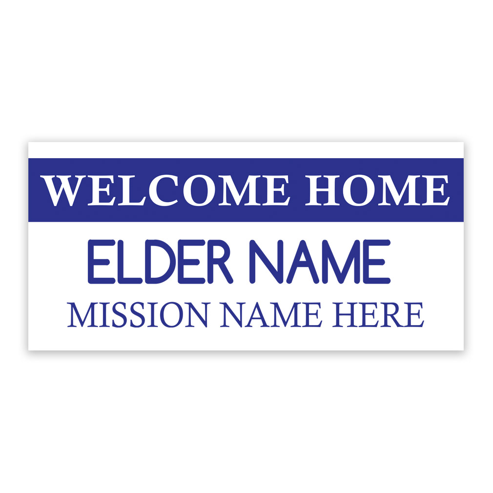 tag missionary banner elder ldp mspst247234