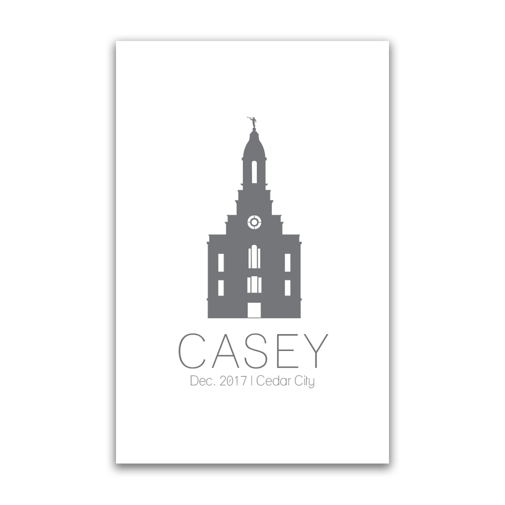 Personalized Temple Vector Poster - Outline in LDS Family Posters ...