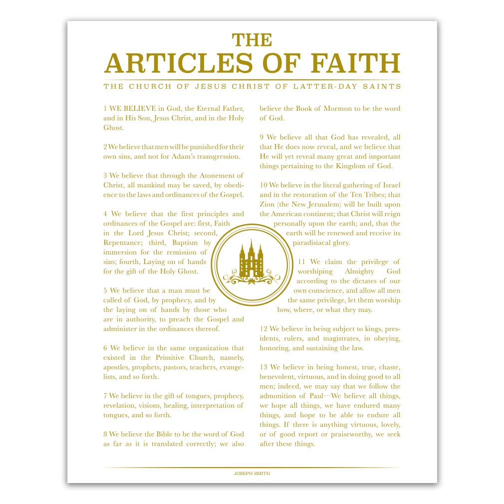 Temple Stamp Articles of Faith - LDP-AF283