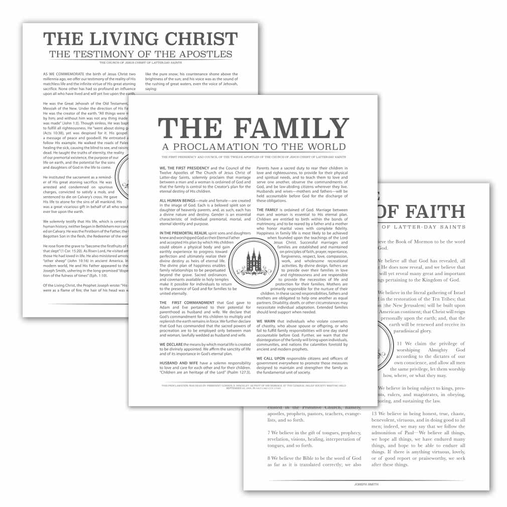 Temple Stamp Family Poster Pack - LDP-FPP283