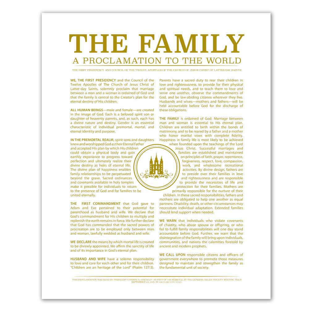 Temple Stamp Family Proclamation - LDP-FP283