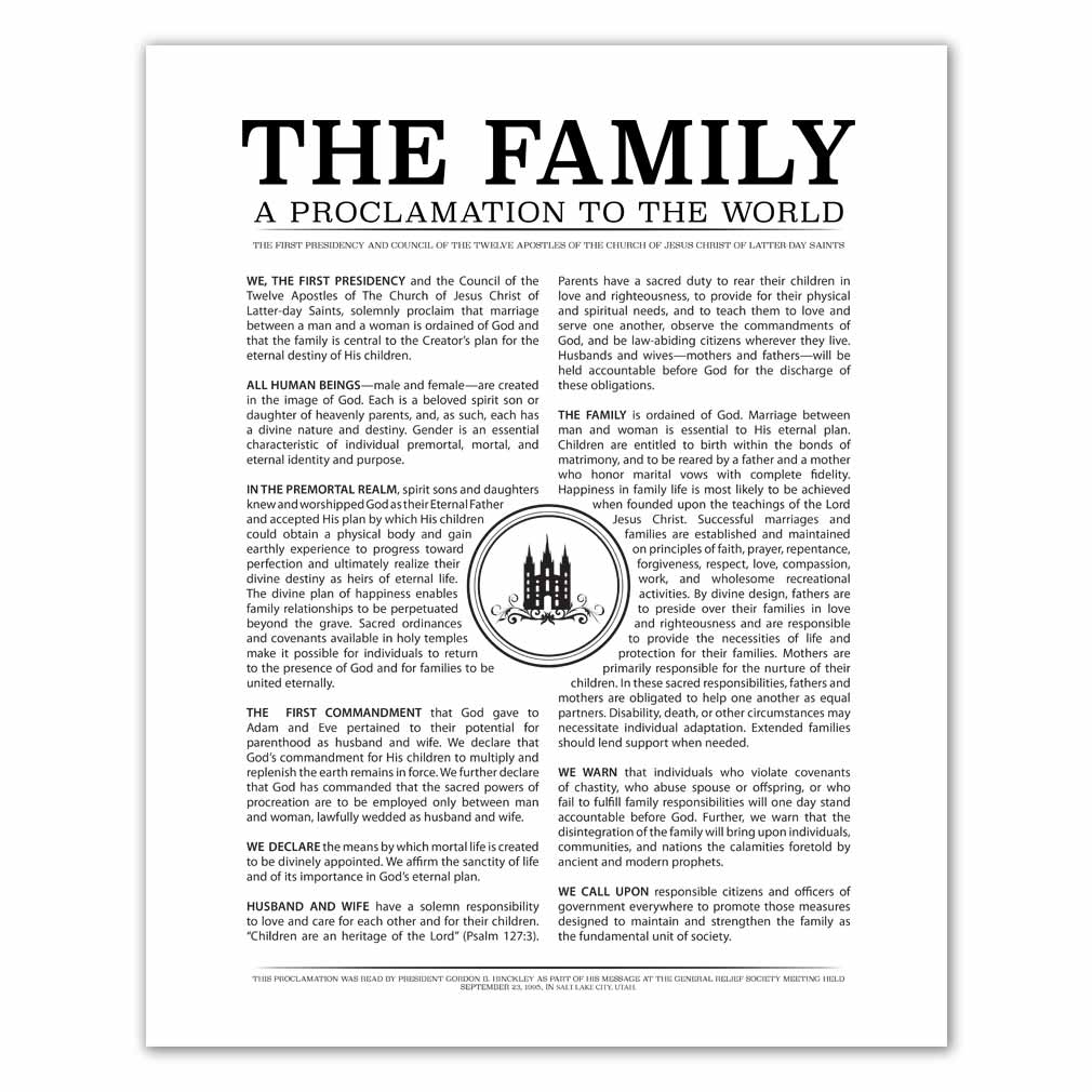 picture relating to Stamp Printable named Temple Stamp Relatives Proclamation - Black - Printable