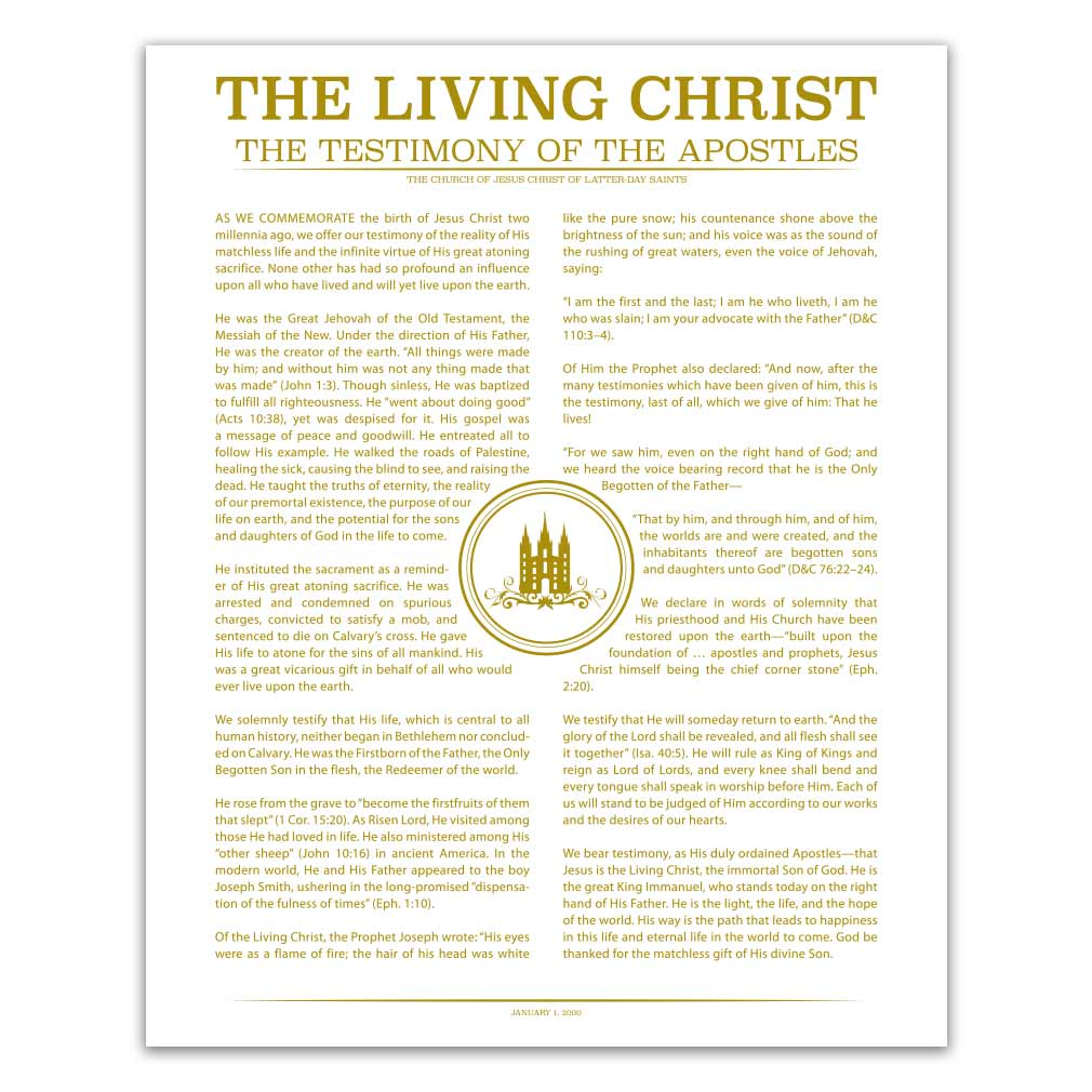 Temple Stamp Living Christ - LDP-LC283
