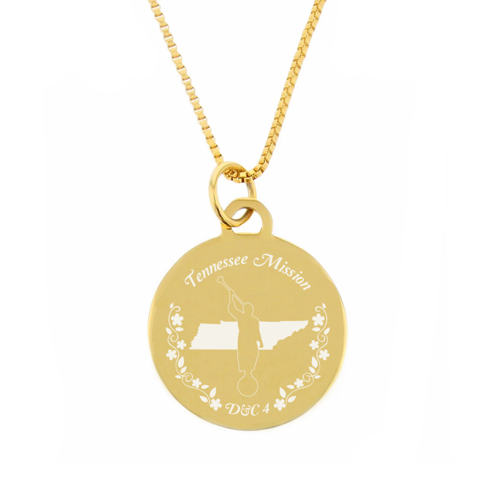 Tennessee Mission Necklace - Silver/Gold - LDP-CPN81
