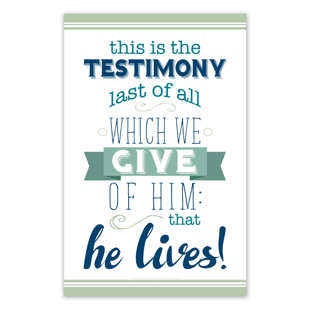 photo relating to Printable Posters titled This is the Testimony Ultimate of All Poster - Printable