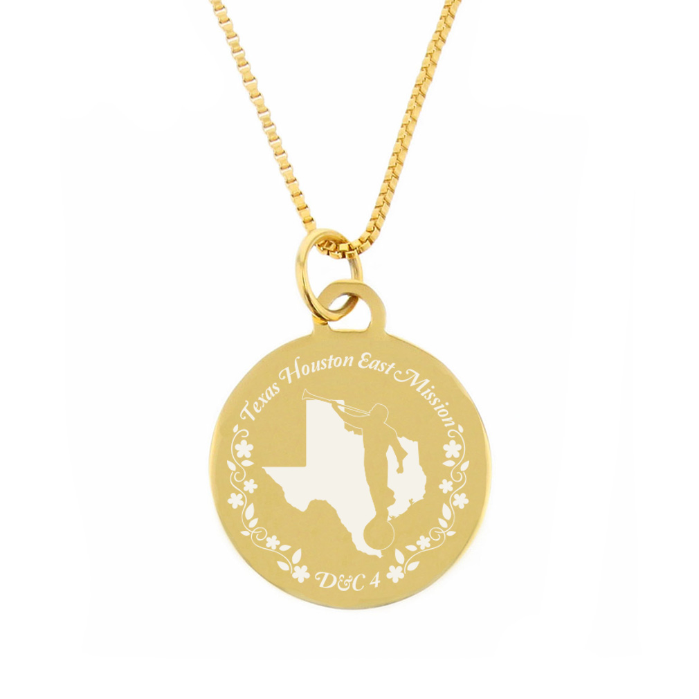 Texas Mission Necklace - Silver/Gold - LDP-CPN82