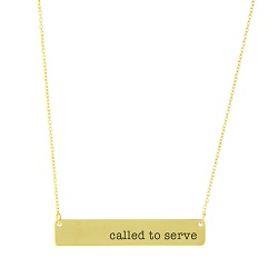 Called to Serve Bar Necklace bar necklace, text bar necklace, gold bar necklace, engraved necklace, missionary necklace, sister missionary necklace, called to serve, serve, called to serve necklace
