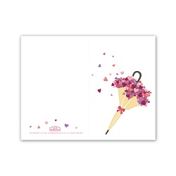 Umbrella Heart Bouquet Valentine's Day Card - Printable