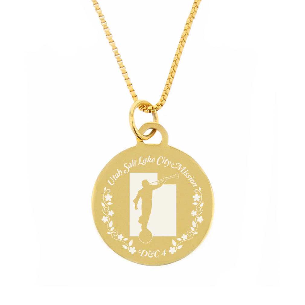Utah Mission Necklace - Silver/Gold - LDP-CPN83