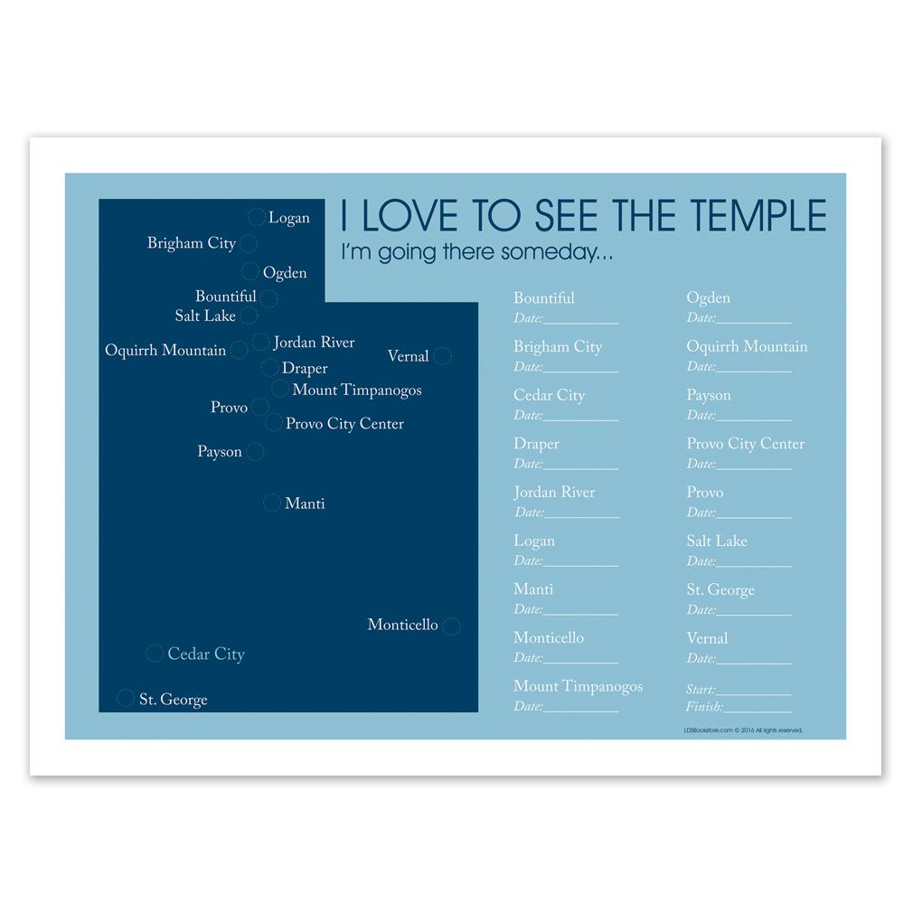 Utah Temple Map in Posters   LDSBookstore.com (#LDP-PST25229)