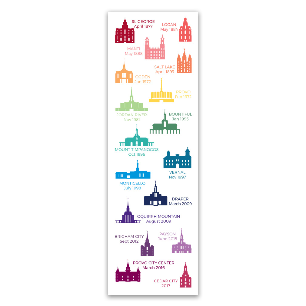 Utah Temple Tracking Bookmark in Bookmarks | LDSBookstore
