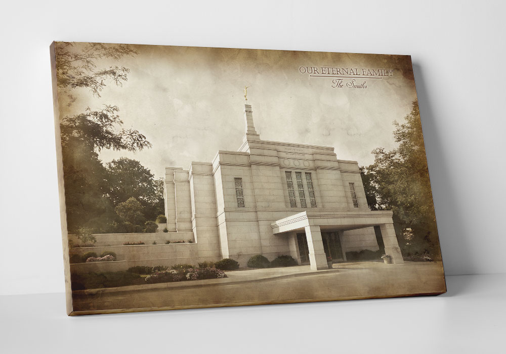 Winter Quarters Temple - Vintage Canvas Wrap