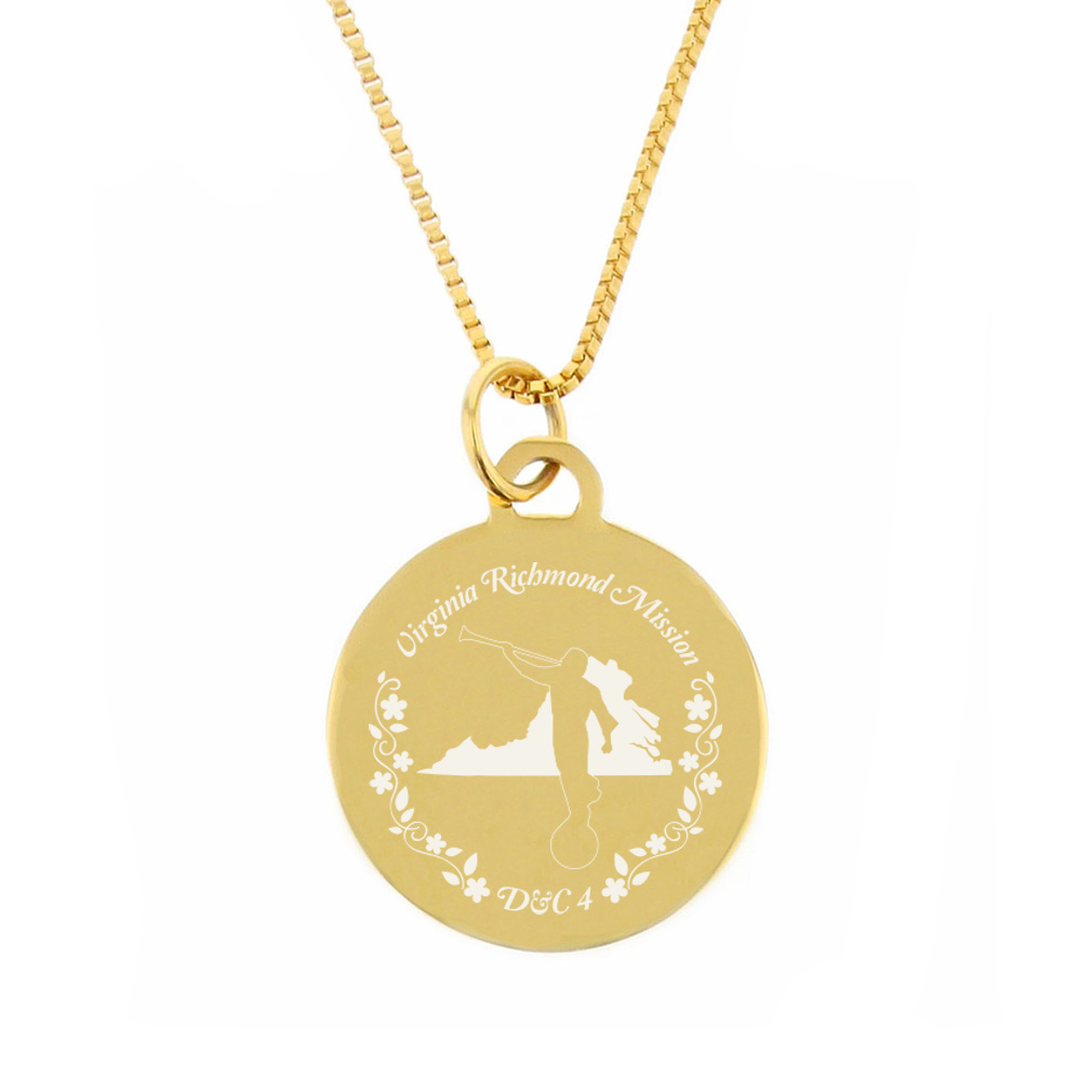 Virginia Mission Necklace - Silver/Gold - LDP-CPN85
