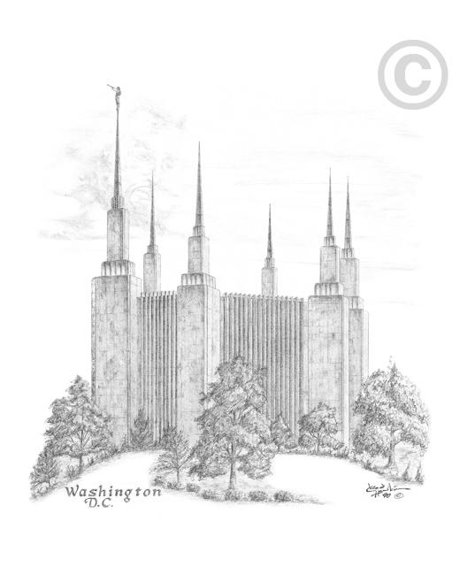 Washington D C Temple Sketch In Temple Ldsbookstore