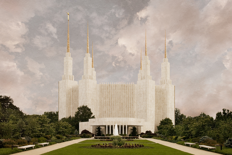 Washington D.C. Temple - Textured