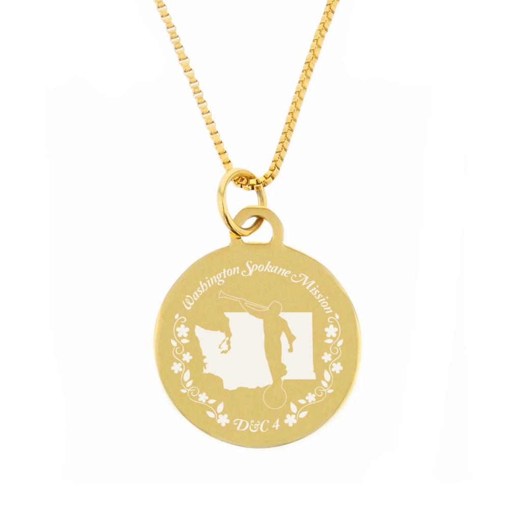 Washington Mission Necklace - Silver/Gold - LDP-CPN86