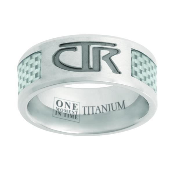 White Titanium & Carbon Fiber CTR Ring - OMT-J113W