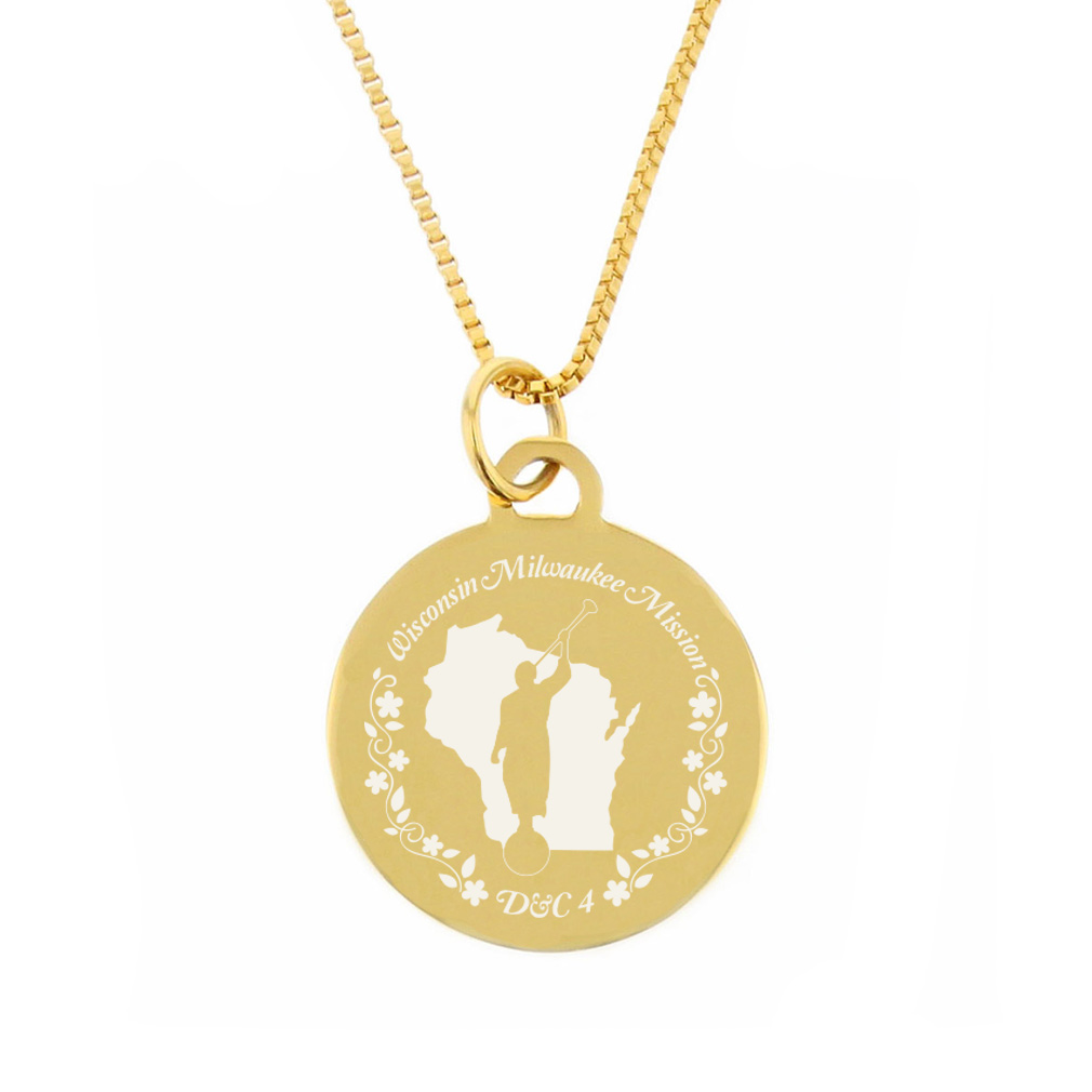 Wisconsin Mission Necklace - Silver/Gold - LDP-CPN88