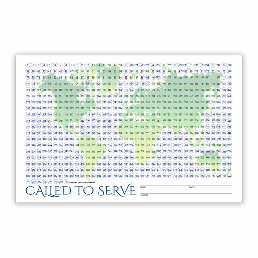 photograph about Printable Countdown Chart named Globe Missionary Countdown Sheet - Elder in just Missionary