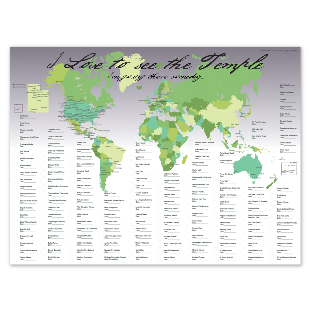 World Temple Map in Posters | LDSBookstore.com (#LDP-PST20229)