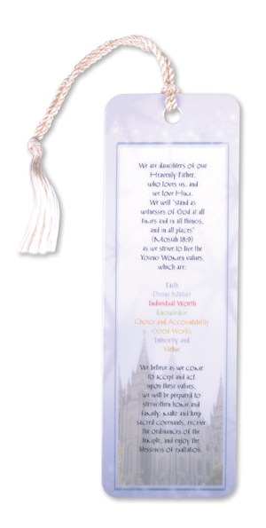 Young Women Theme Bookmark In Bookmarks Ldsbookstore Com