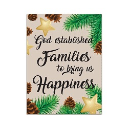 Ministering Handout - God Blesses Family Christmas - Printable lds visiting teaching method, lds visiting teaching handout, lds relief society message handout, december relief society handout, october visiting teaching messsage