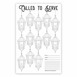 Missionary Countdown Lantern Chart coloring countdown calendar, color in countdown calendar, mission countdown, missionary countdown