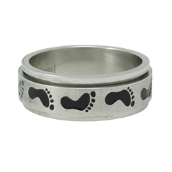 Footprints Spinner Ring