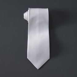 Diamond Polyester Tie - White