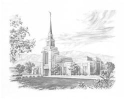 Gila Valley Arizona Temple - Sketch