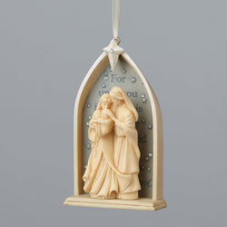 Enesco Foundations Nativity Ornament 3.5 In