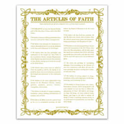 Filled Leaf Articles of Faith - Gold - Printable articles of faith posters, articles of faith, filled leaf articles of faith, articles of faith printable