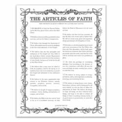 Filled Leaf Articles of Faith - Charcoal - Printable articles of faith posters, articles of faith, filled leaf articles of faith, articles of faith printable