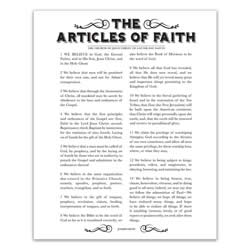 Newspaper Articles of Faith - Black - Printable articles of faith posters, articles of faith, newspaper articles of faith, articles of faith printable